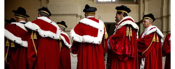 2301/2015 Roma, inaugurazione dell'anno giudiziario presso la Suprema Corte di Cassazione. Nella foto i giudici con la toga